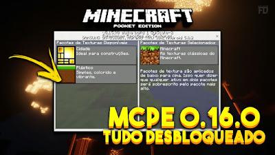 Minecraft PE - Build 3 - 0.16.0 - Apk [Tudo Desbloqueado]