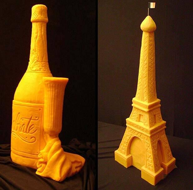 Kreatif Banget! Pahatan cantik ini terbuat dari Keju