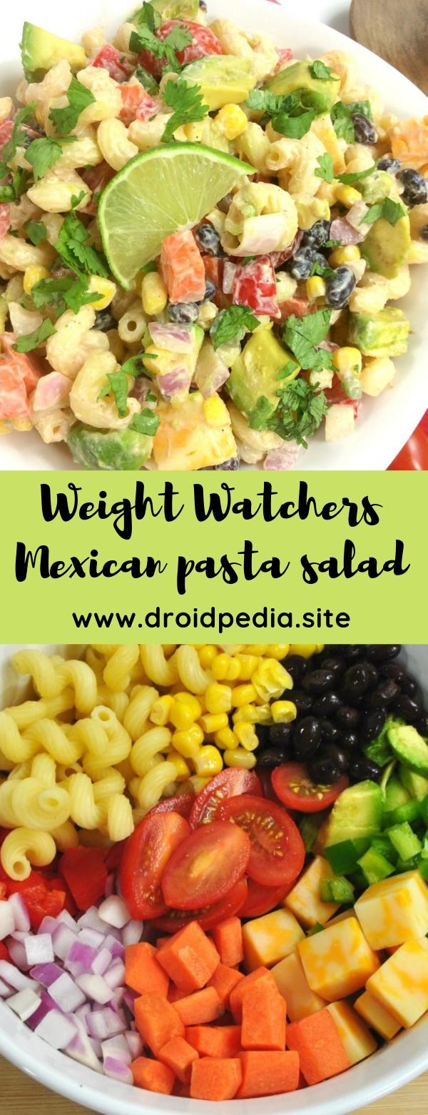 Weight Watchers Mexican pasta salad #salad #weightwatchers