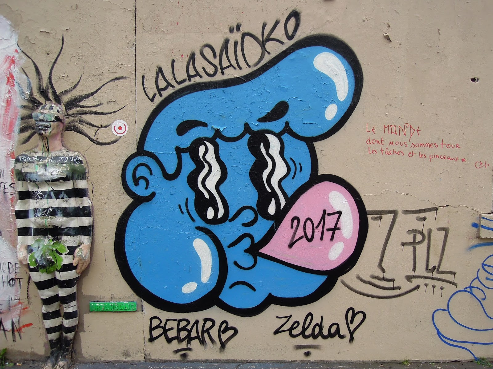 street art par artistes lalasaido et bebar