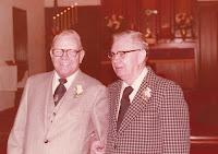 Captain Richard Olsen's wedding with Donald Olsen, best man