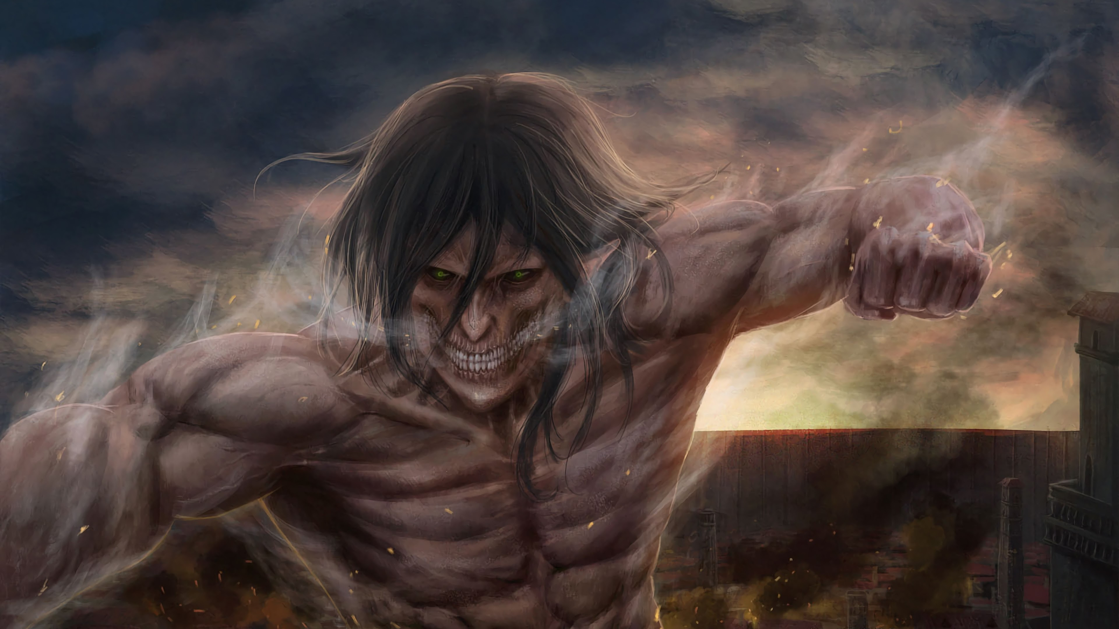 Attack Titan, Attack on Titan, 4K, #107 Wallpaper