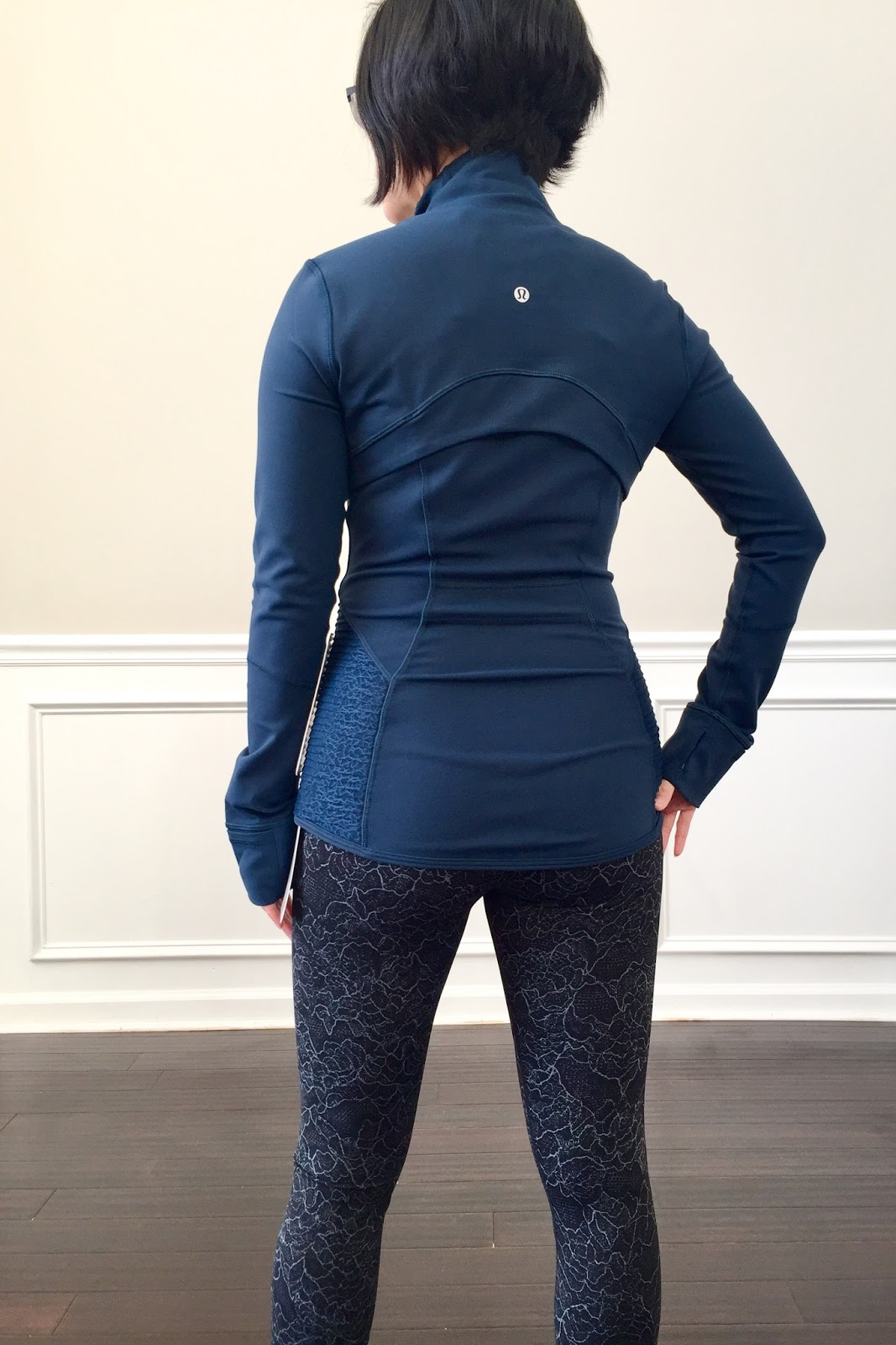 ab58126ac3 Jaded is a very deep, dark, and saturated blue. The color is absolutely  beautiful. The fit is the same as all my other Define Jackets and true to  size.