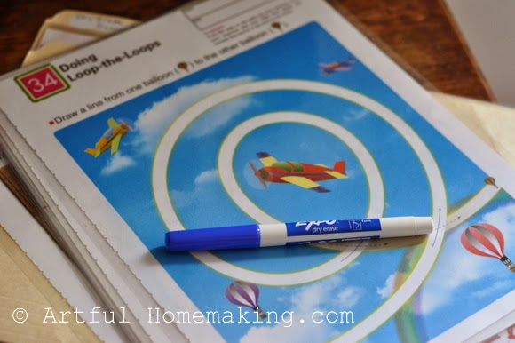 Fine Motor Coordination: Keeping Little Ones Hands Busy. laminated pages for tracing