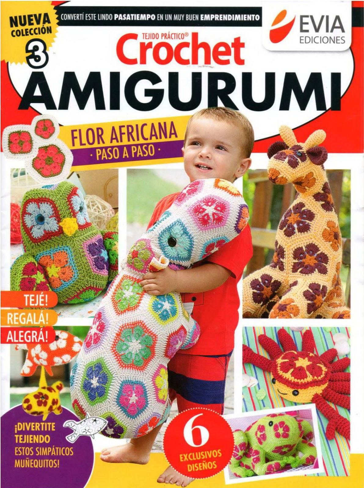 Materiales gráficos Gaby: Amigurumi con flor africana paso a paso y ...