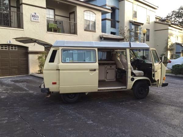 used rvs 1984 volkswagen vanagon westfalia mini rv camper van for sale by owner. Black Bedroom Furniture Sets. Home Design Ideas