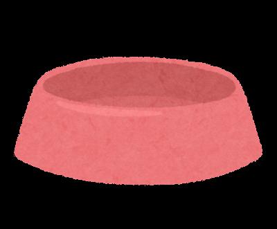 ペット用の食器のイラスト