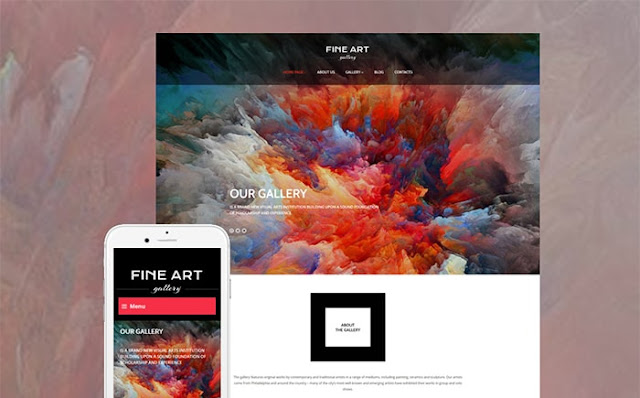 Fine Art Gallery Responsive WordPress Theme