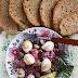 Sałatka z buraczków z bakłażanem i mozzarellą