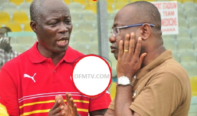 Former Sports Minister, Edwin Nii Lante Vanderpuye (Left) And GFA Boss Kwesi-Nyantakyi (Right)