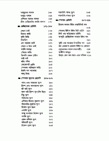 Recipe Book in Bangla