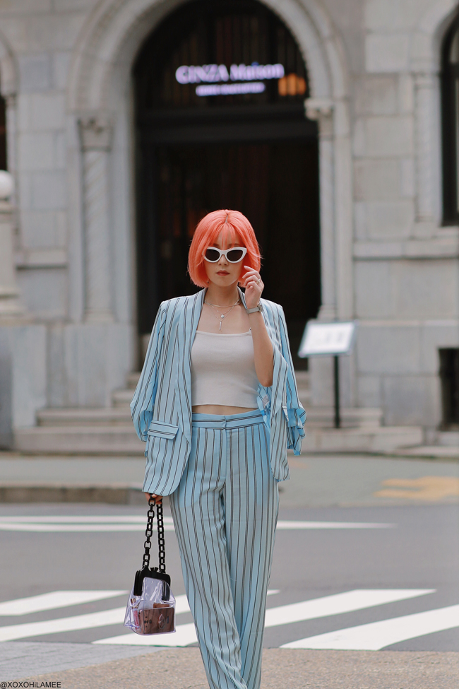 Japanese Fashion Blogger, 20190721OOTD forever21= set up suit,