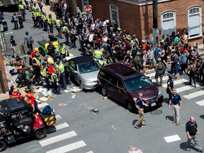 Suspect in Virginia car ramming a 'Nazi sympathiser'
