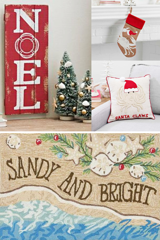 Coastal Christmas Decor in Red