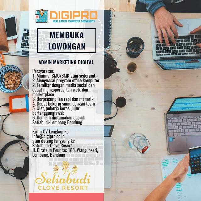 Lowongan Kerja DIGIPRO Bandung