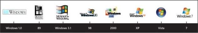 Look back at past Windows logos