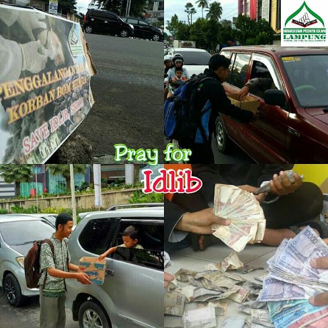 Penggalangan dana oleh mahasiswa MPI Lampung
