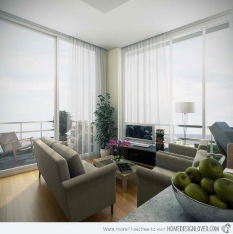 Thiết kế mở luôn là một sự lựa chọn tuyệt vời cho căn phòng hẹp, kết hợp với nội thất tông màu sáng tạo hiệu ứng giúp không gian rộng hơn nhiều so với thực tế
