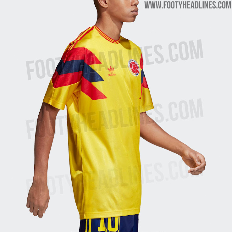 Adidas Originals Colombia 1990 Remake Jersey Released - Footy Headlines f96e75757