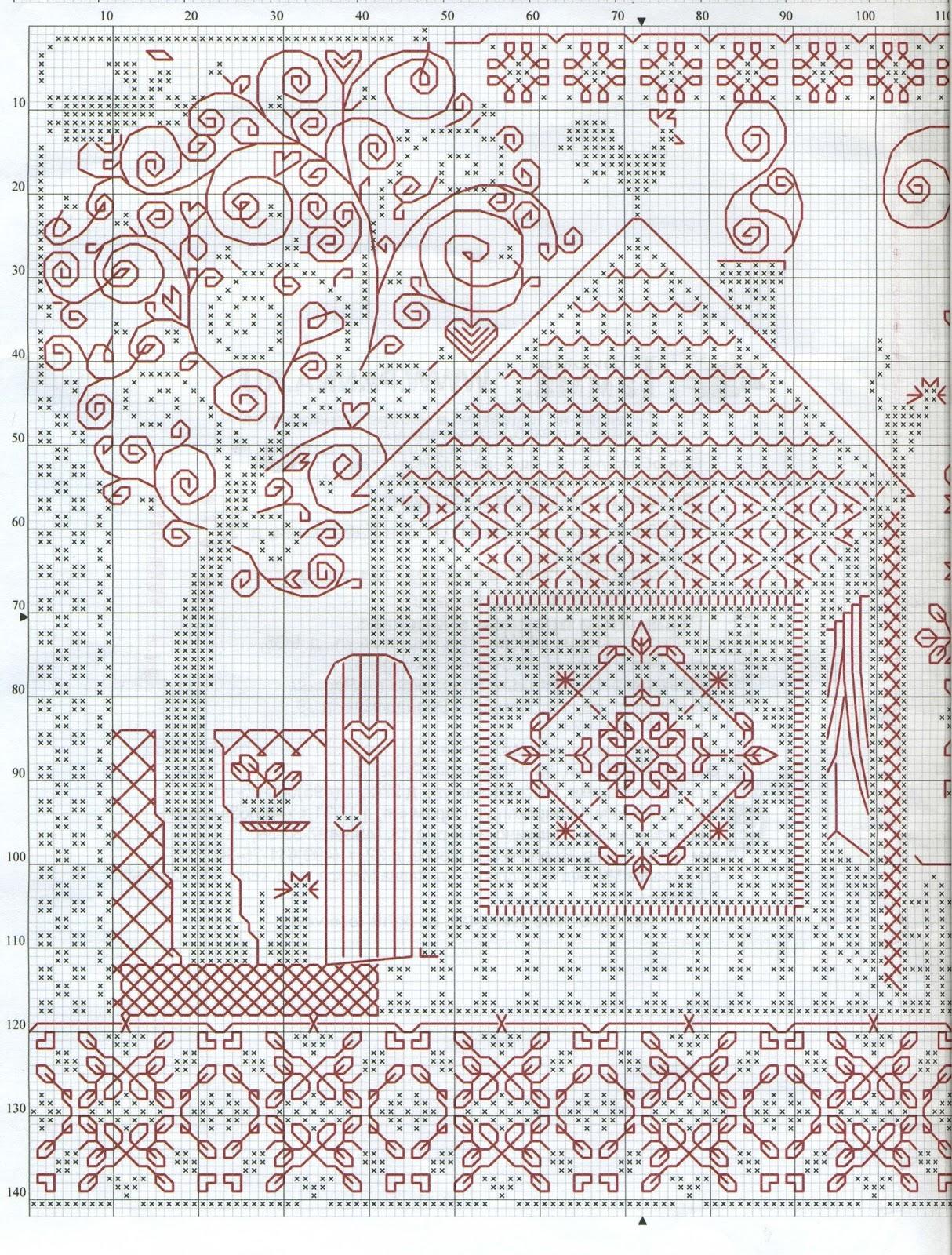 Схема вышивки крестом белочка на ветке - Семейный портал Мир 39