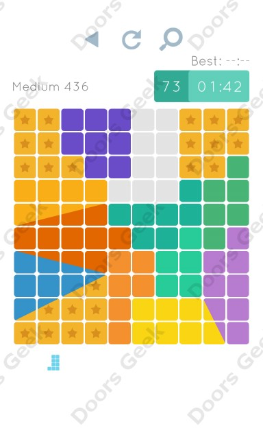 Cheats, Walkthrough for Blocks and Shapes Medium Level 436