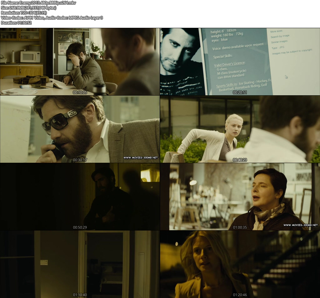 Enemy 2013 480p BRRip 250MB x264 Screenshot