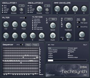 DSK TechSynth PRO - Plugin VST Sintetizador