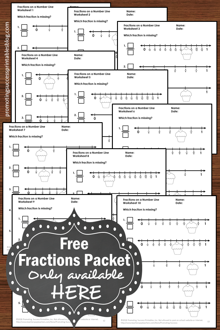 medium resolution of Promoting Success: Fractions on a Number Line 3rd Grade Tutorial for Kids