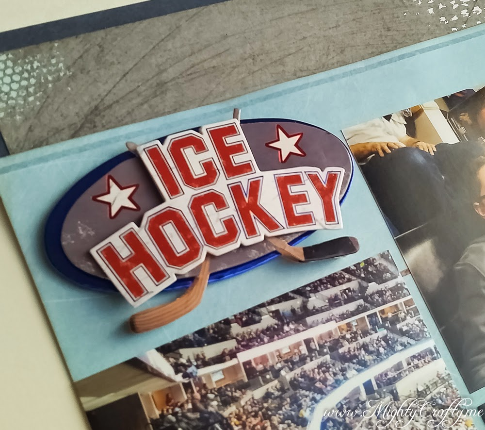 Ice Hockey layout for Sketch N Scrap Challenge #64