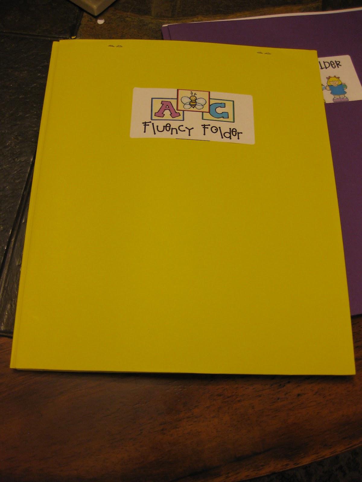 Texas Reading First Second Grade Fluency Folder