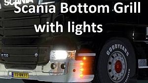 Scania Bottom Grill With Lights mod by Nikola Kostovski