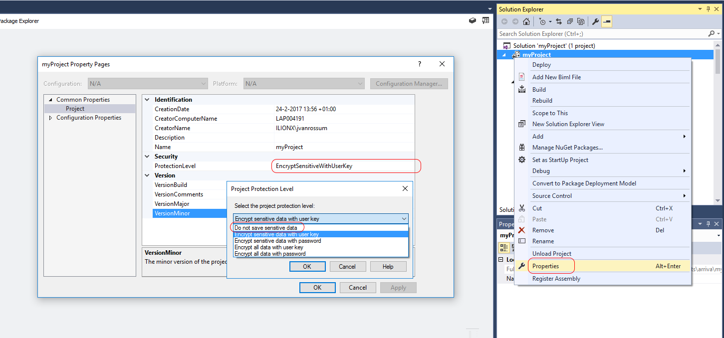 how to open ssis package in visual studio 2017