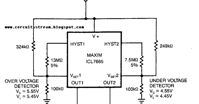 Single Supply fault Monitor Circuit Diagram ~ Guide