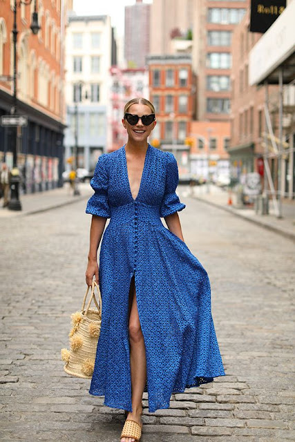 The New Blacck - blog - orléans - août - robe - bleu