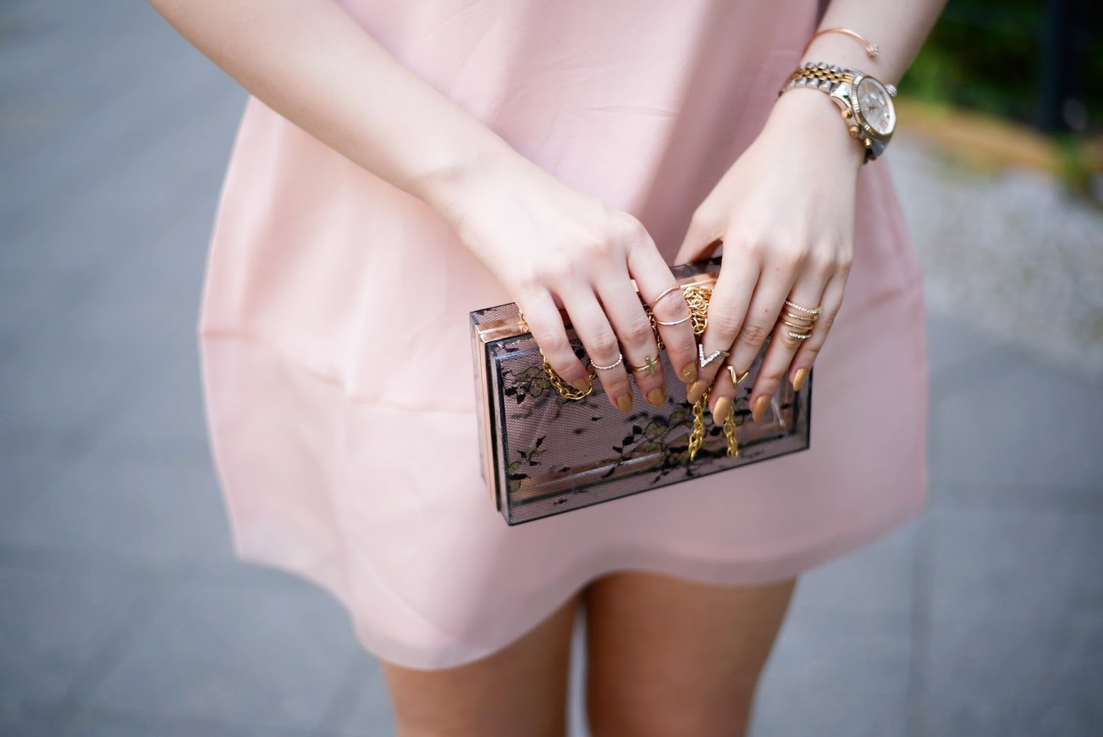 clear acrylic clutch