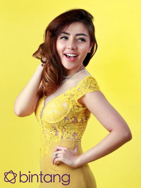 Sexynya Bella Shopie Bergaun Kuning Transparan