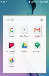 Buka aplikasi gmail di smartphone