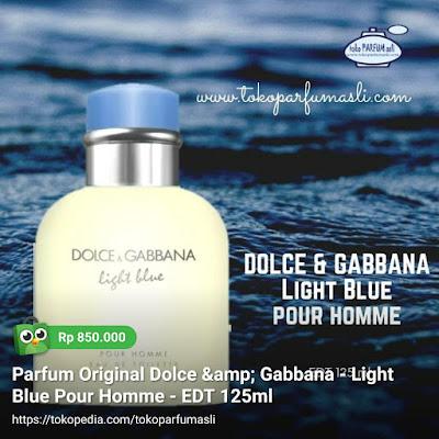 toko parfum asli parfum original dolce gabbana light blue pour homme edt 125ml man