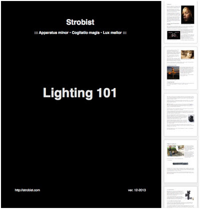 Strobist: Lighting 101 To Go