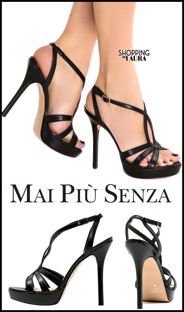 Sandales noires à plateforme et talons hauts MAI PIÙ SENZA