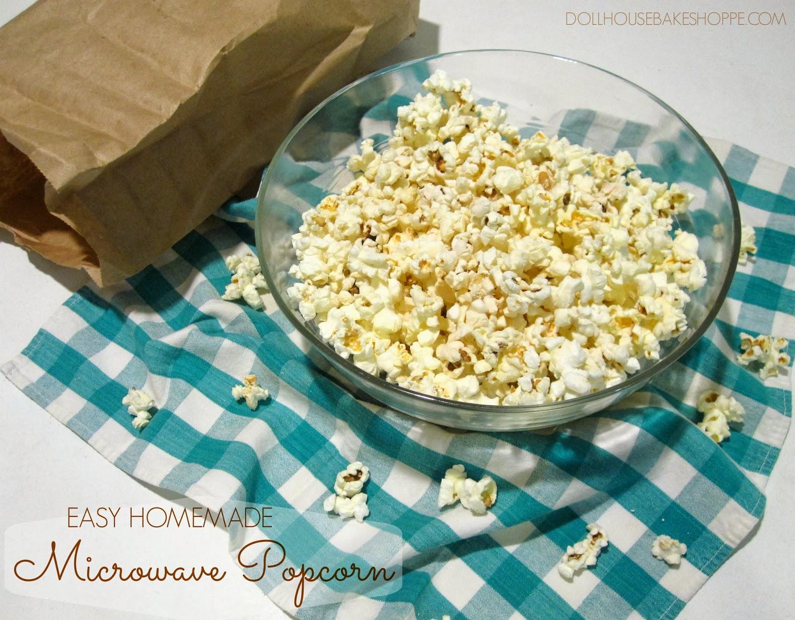 diy easy homemade microwave popcorn