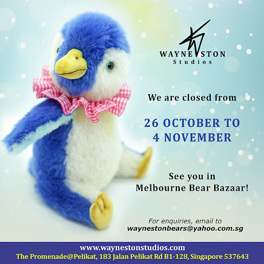 We are closed from 26 October - 4 November!