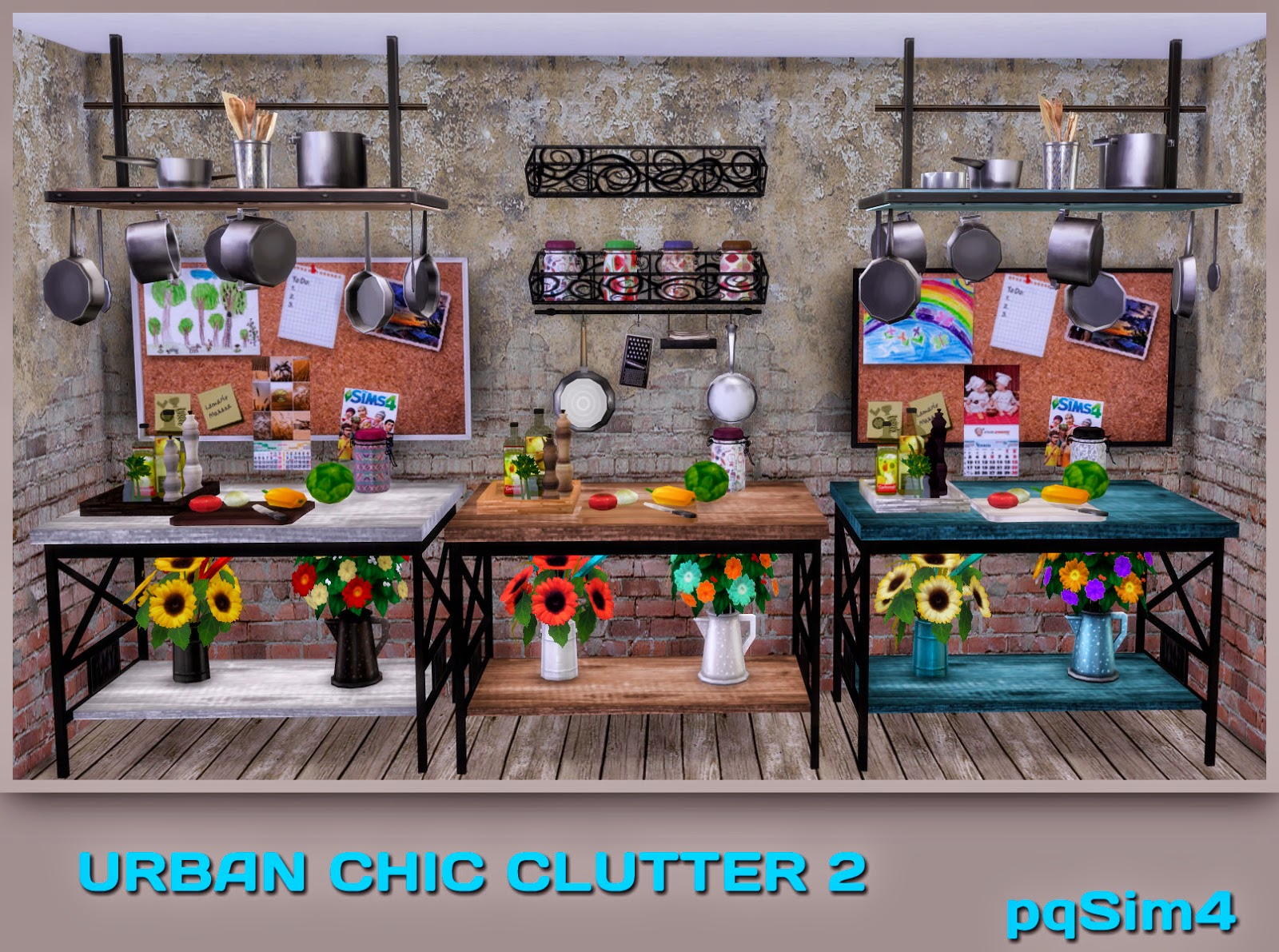 Urban Chic Clutter 2 Sims 4 Custom Content
