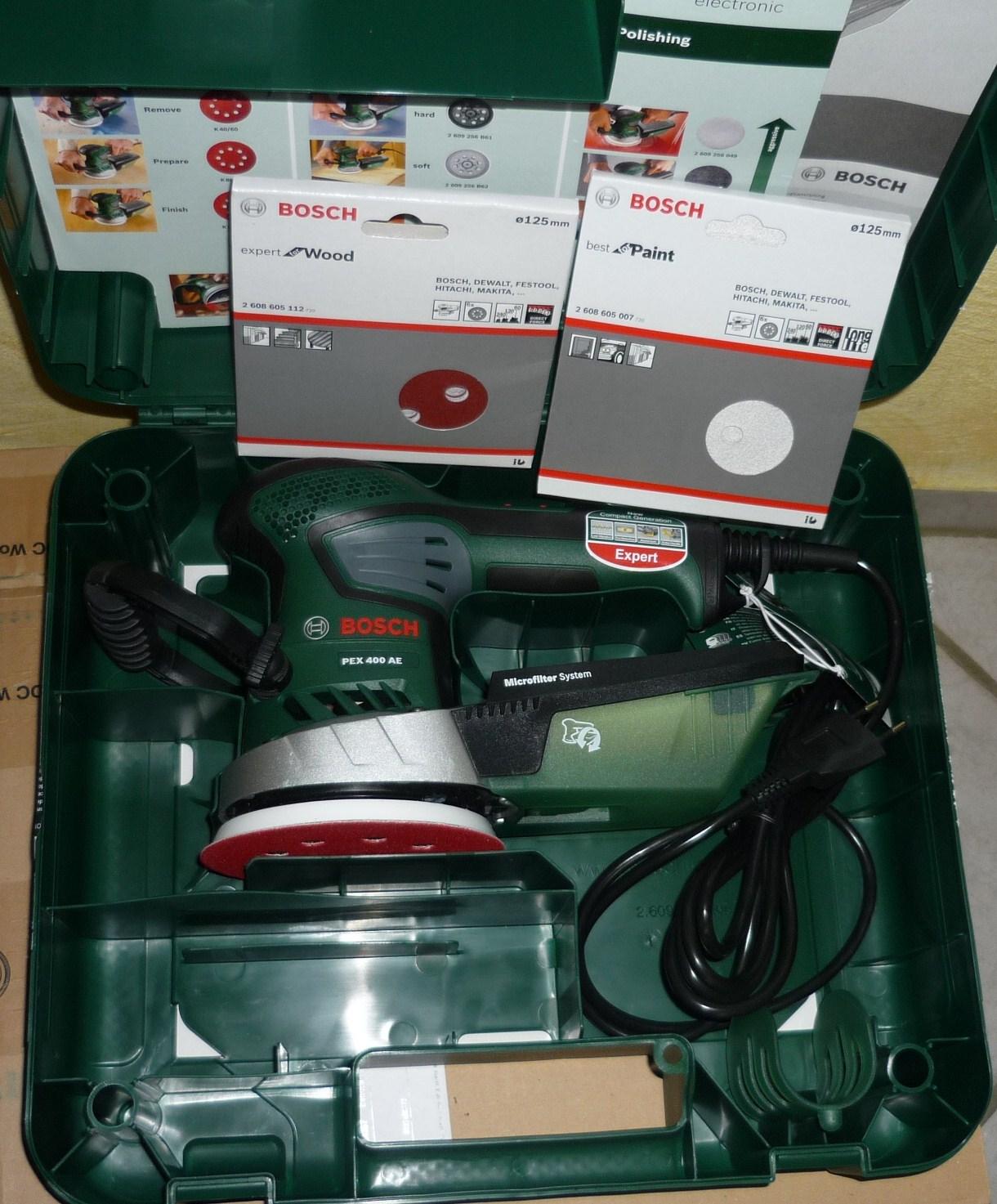 Enormt Getestetes Werkzeug: Bosch PEX 400 AE Exzenterschleifer | Bosch CP41