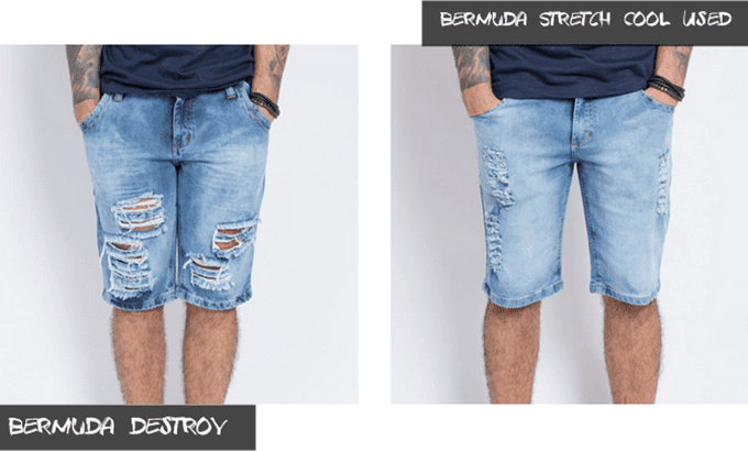 Bermuda-Jeans-Masculina-Destroyed
