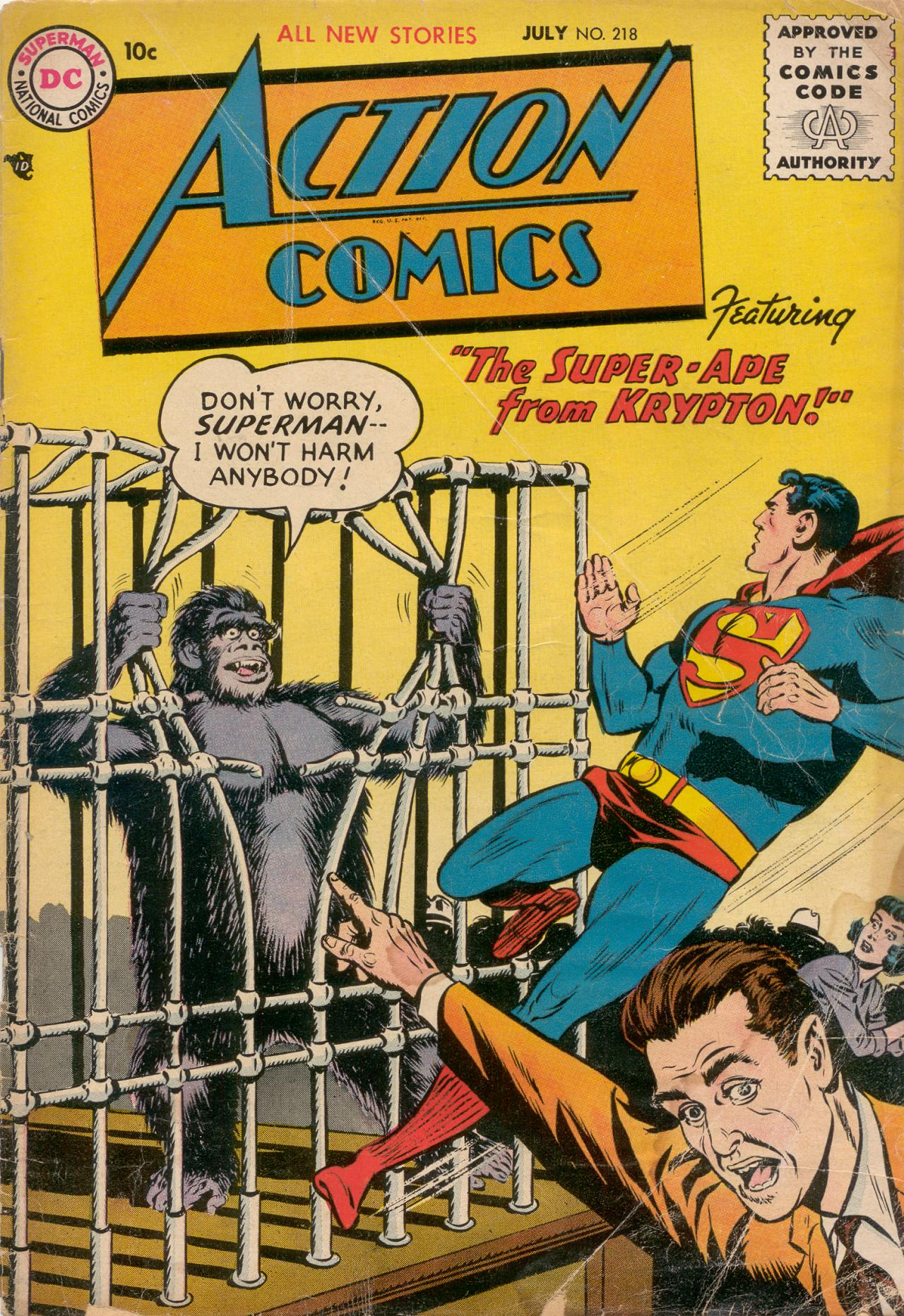 Read online Action Comics (1938) comic -  Issue #218 - 1