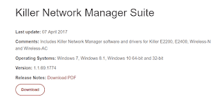 Killer network manager is not working after installing Windows 10 Creators update [Fix]