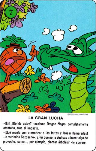 Baraja Los Fruittis Carta verde 7