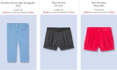 Pantalones shorts nina