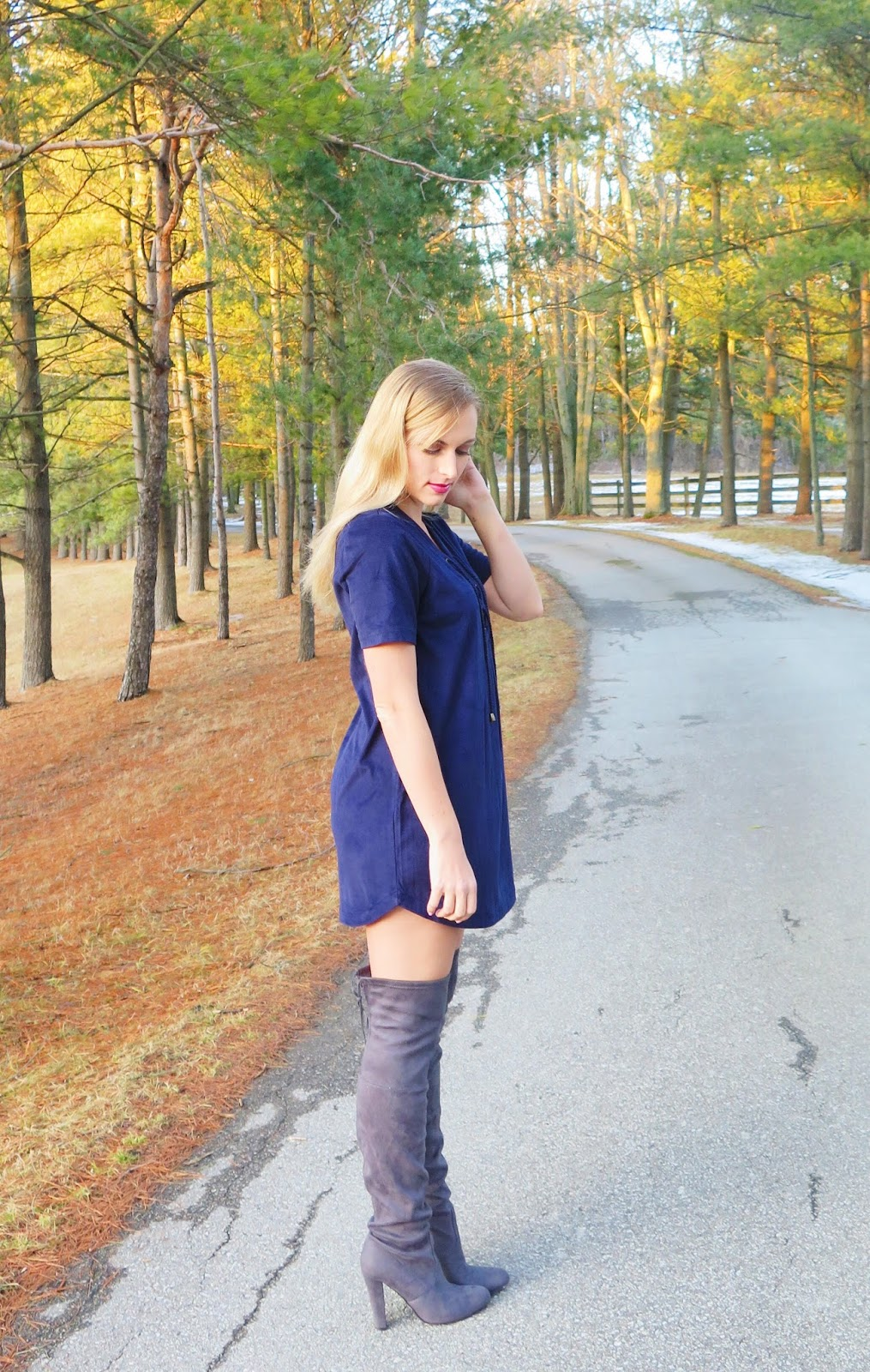 what-to-wear-with-a-suede-dress